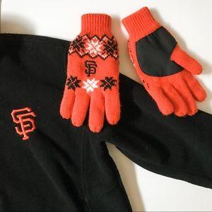 3/$20 MLB San Francisco Giants Fleece Lined Gloves